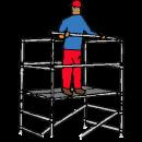 Lättmetallställning Bredd 1,40 - Längd 1,70 - Höjd 3,75 m