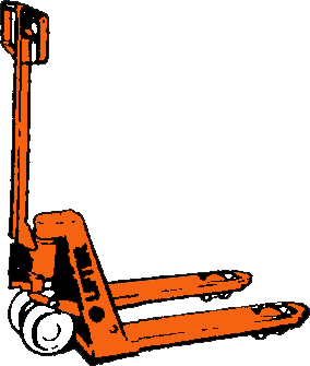 Pallyftvagn, kort modell