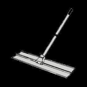 Sloda, 1,0 meter med fast skaft (aluminium)