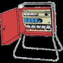 Undercentral med stativ, 32 amp