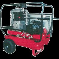 Kompressor, 380 V 530 liter, med hjul