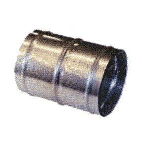 Skarvrör med klammer 76 mm